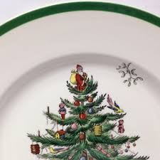 Spode Christmas Tree Gold by Spode Christmas Tree Dinner Plate England From