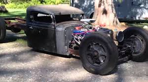 1936 International Rat Rod First Test Run - YouTube