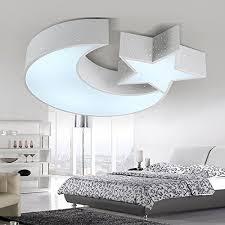 jj moderne led deckenleuchte kinderzimmer le warm kleines schlafzimmer licht kreativ sterne mond zimmer weiße led 590 490 90mm