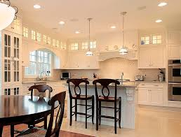 puck lights kitchen traditional with pattern tile glass