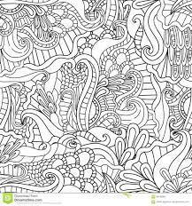 Detailed Coloring Pages Nature Book Scenes Free For Adults Animals Complex Decorative Hand Drawn Doodle Ornamental Curl Vector Sketchy