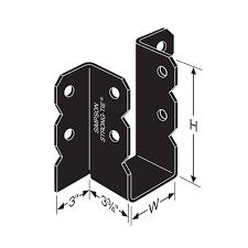 2 x 6 decorative joist hangers ou46 4x6 ornamental joist hanger black powder coated