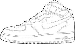 Coloring Pages Jordan Shoes At