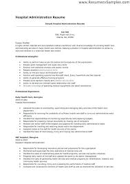 Resume For Hospital Job Sample Housekeeping