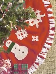 Fuzzy Fleece Tree Skirt