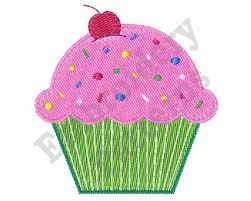 Cupcake Machine Embroidery Design 4 X Hoop Muffin
