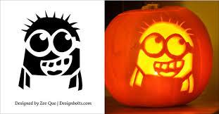 Halloween Stencils For Pumpkins Free by 5 Free Halloween Minion Pumpkin Carving Stencils Patterns Ideas