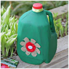 Earth Day Recycled Craft Milk Jug Watering Can