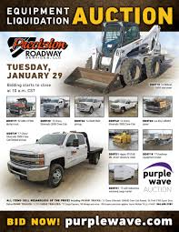 Tuesday January 29 Precision Roadway Services Equipment Liqu...