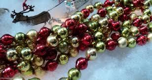 Christmas Tree Glass Bead Garland