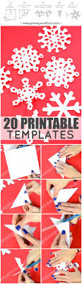 How To Make Paper Snowflakes pattern templates Easy Peasy and Fun