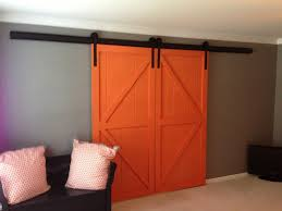 Interior: Stunning Unique Orange Barn Door For Simple House ... White Sliding Barn Door Track John Robinson House Decor How To Epbot Make Your Own For Cheap Knotty Alder Double Sliding Barn Doors Doors The Home Popsugar Diy Youtube Rafterhouse Porter Wood Inside Ideas Best 25 Interior Ideas On Pinterest Reclaimed Gets Things Rolling In Bathroom Http Beauties American Hardwood Information Center Design System Designs Tutorial H20bungalow