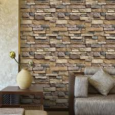 3D Wall Paper Brick Stone Rustic Effect Self Adhesive Sticker Home Decor Wallpaper Stickers