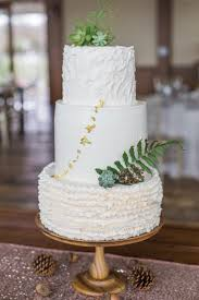 Charleston Harbor Resort Marina Eco Friendly Rustic Elegant Wedding Cake With Succulents Ferns