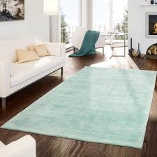 teppich handgetuftet modern qualität edel viskose garn schimmer glanz pastell grün größe 160x230 cm
