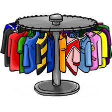 Cartoon Rack Of Clothes Clipart