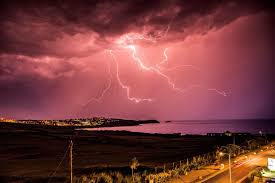 Thunder Lightning Storm Britain Weather Facebook Status