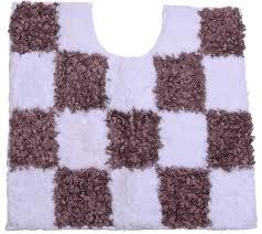 my home selection rhona 3 teiliges bad garnitur set stylisches badezimmer teppich set weiß braun