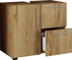vcm bad unterschrank waschtisch waschbeckenunterschrank badunterschrank schrank möbel flandu 51 x 60 x 30 cm badezimmer regal holz badmöbel