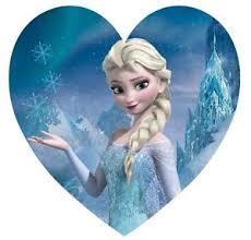 Image is loading Frozen Elsa Anna Heart Shape Edible Icing Cake