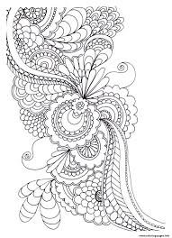 Coloring Pages For Abstract Flowers Print Adult Zen Anti Stress To