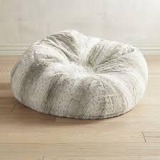 Image Of Fuzzy Faux Fur Bean Bag