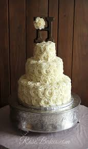 Rustic Buttercream Roses Wedding Cakae