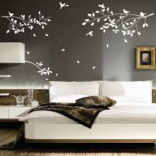 DecorationsBeautiful White Rose Flower Mural Wall Art Interior Design Decorating Ideas Tree