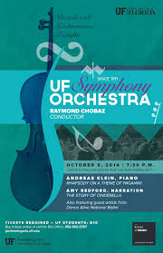 UF Symphony Orchestra With Andreas Klein Piano Amy Redford Narration