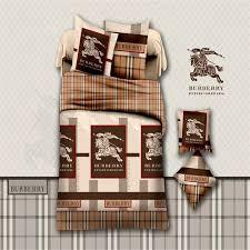housse de couette burberry mode cheval ensemble de literie housse de couette drap de lit taie d oreiller roi reine jpg