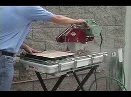 Mk 770 Tile Saw Manual by Mk 101 Tile Saw Demonstration Video Youtube