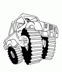 Black Stallion Monster Truck Coloring Page For Kids, Transportation ...