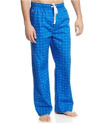 lacoste croc print pajama pants in blue for men lyst