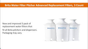 Brita Faucet Filter Replacement Walmart by Brita Water Filter Pitcher Advanced Replacement Filters 3 Count