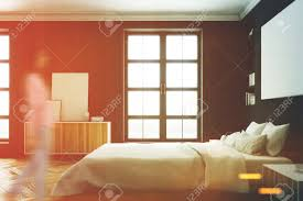 100 Modern Luxury Bedroom Side View Of A Modern Luxury Bedroom With Black Walls A Large