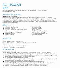 School Library Assistant Resume Sample