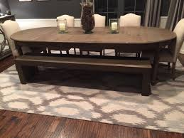 Finished Product Formal Dining Room Bench
