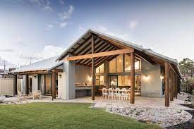 104 Rural Building Company Co Kalgup Retreat Patio Area View From Front House Modern House Exterior Architecture