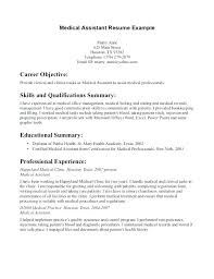 Medical Administrative Assistant Resume For Office Sample