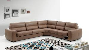 Brown Leather Couch Living Room Ideas by Decor Brown Leather Sectional Sofa With Nailhead Trim And Wood