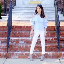 Cold Shoulder Top Vince Shoes White Jeans Summer Outfit