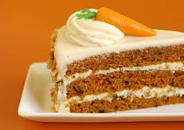 traditional cakes sweet brown and white carrot cake