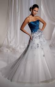 wedding dresses blue and white luxury bridal gowns luxury