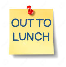 12353891 Out To Lunch Office Note With A Yellow Paper And Red Thumb Tack As An Icon Of Break Time From Work 13 Sign