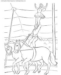 Circus Horses Coloring Pages