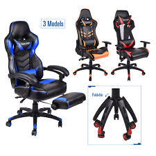Video Gaming Chair With Footrest by Racing Office Chair Ebay