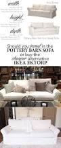 Buchannan Microfiber Sofa Instructions by Ikea Ektorp Versus Pottery Barn Grand Sofa