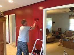 Bedroom Paint Ideas Accent Wall Red Cabin Walls In Kitchen Dining Room