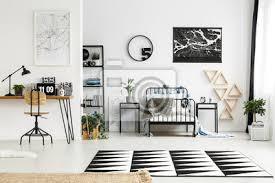schwarz weiß schlafzimmer bilder myloview