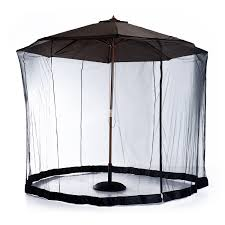 Offset Patio Umbrella With Mosquito Net by Mosquito Netting For Patio Umbrella Black Patio Outdoor Decoration